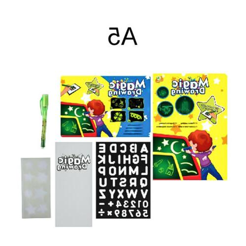 A5 Draw With Light Fun Developing Board Kids Educational