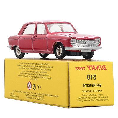 1:43 ALLOY DINKY TOYS 510 Atlas Diecast Red PEUGEOT Antique