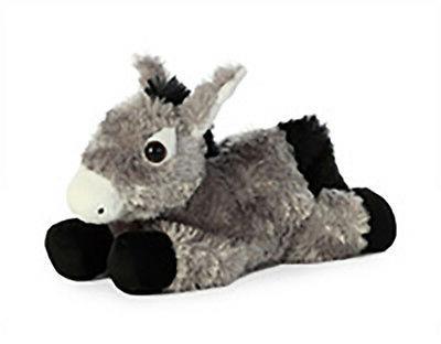 "Aurora World Mini Flopsie Toy Donkey Plush, 8"""