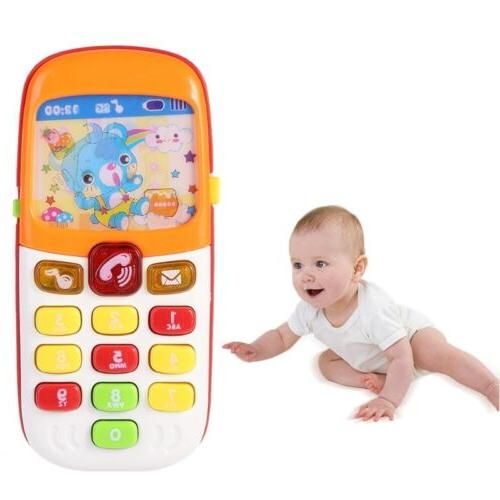 baby cartoon music phone toys electronic educational
