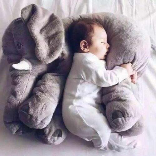 Baby Elephant Cushion Plush Lumbar Nose Doll