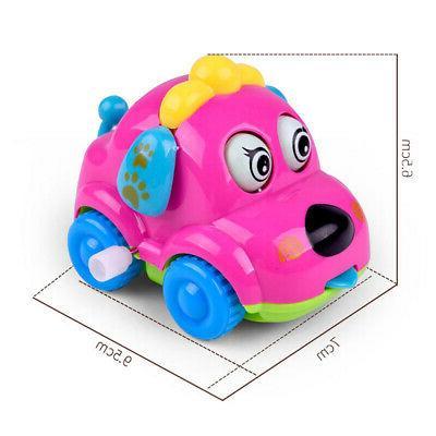 Baby Kids Clockwork Toy Cartoon Puppy Clockwork Car Toys