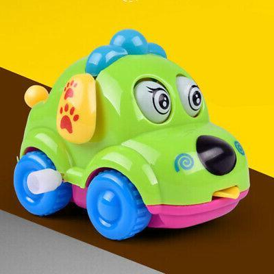 Baby Kids Clockwork Funny Toy Puppy Clockwork Car Educational Toys
