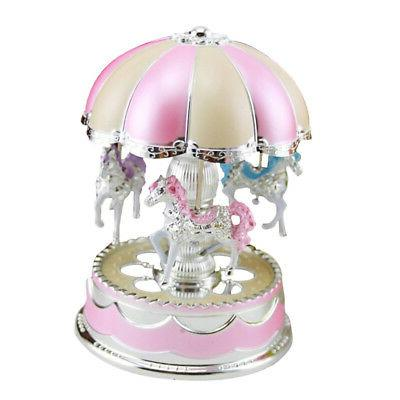 Baby Kids Boy LED Carousel Music Box Xmas