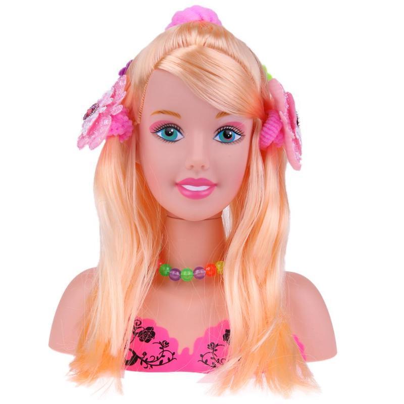 baby <font><b>toys</b></font> Half Body Makeup Doll Mannequin Head Pretend <font><b>Toys</b></font> <font><b>Girls</b></font>