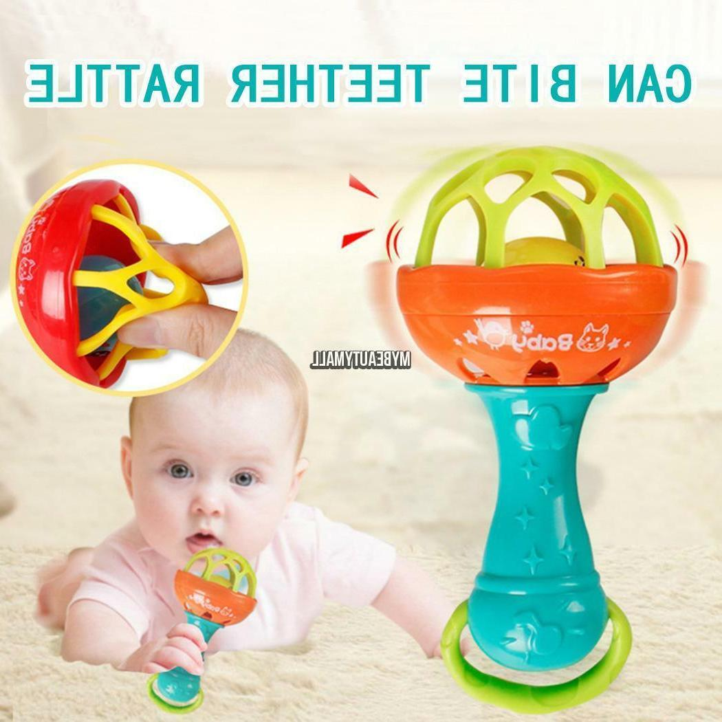 Baby Rattles Educational Toys Kid Novelty Funny Plastic Hand