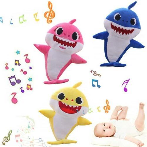 baby shark plush singing cartoon toys music