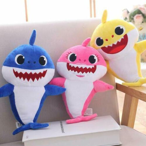 Baby Plush Shark Toys Doll English Kids Song Gift Stuffed US
