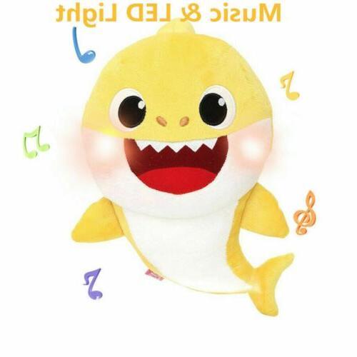 Baby Shark Toys Plush Singing English Cute Cartoon