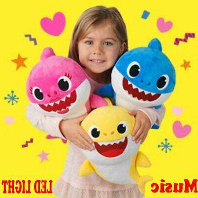 baby shark toys soft plush doll singing