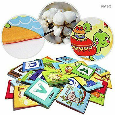 Baby Toy Zoo 26pcs Soft Cards with Bag Over