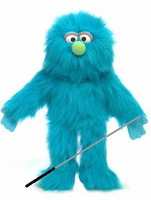 blue monster glove puppet bundle 14 inch