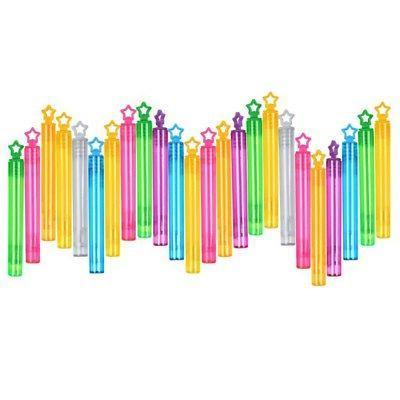 24Pcs Bubble Wands Set Assortment Neon Party Favors Summer G