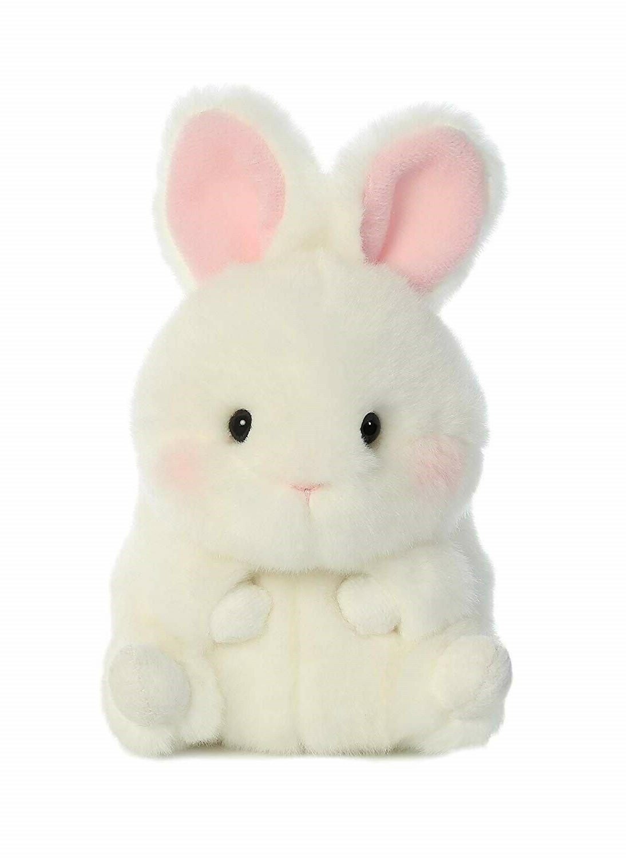5 Inch BunBun White Bunny Rolly Pet Plush Stuffed Animal by