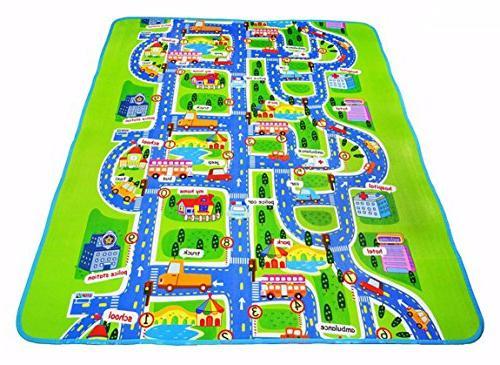 carpet baby play city mat