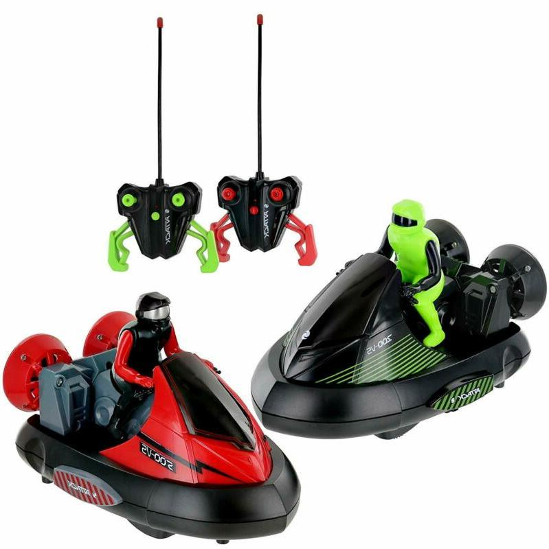 Click N' Play Set Of 2 Stunt Remote Control Rc Battle Bumper
