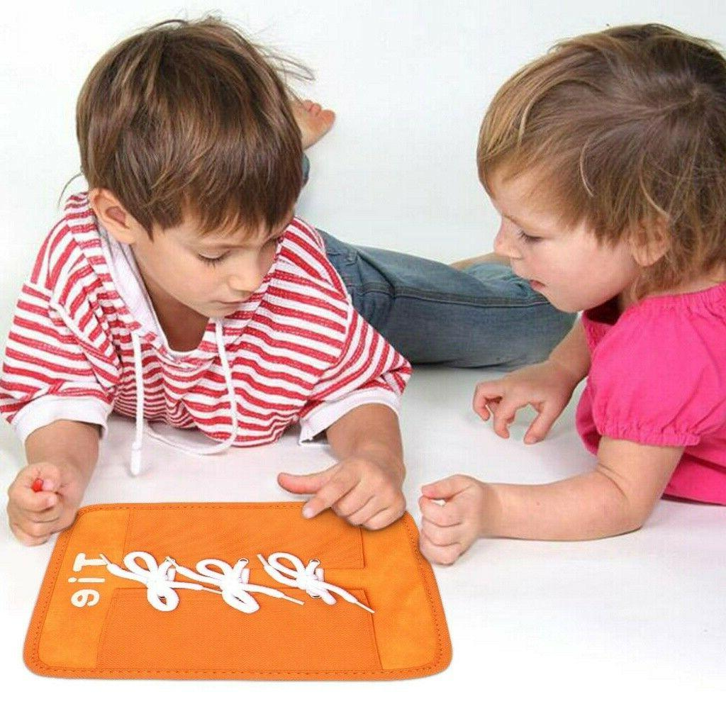 Colorful Baby Learning Kid Basic Skills Toys Learn To Dress Boards US