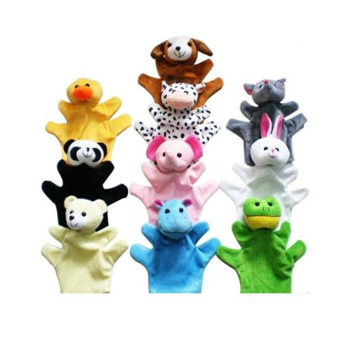 cute animal hand puppets toys set