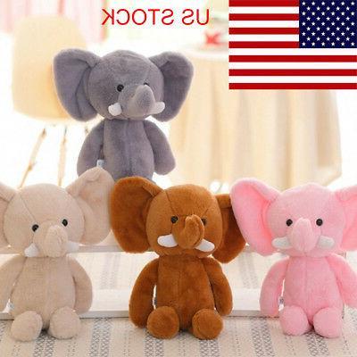 Cute Elephant Stuffed Animals  Soft Plush Toy X-mas Gift Dol