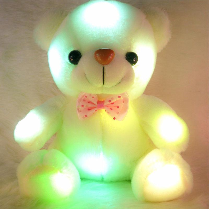 Cute Plush Toys For Girls Light Up Night Xmas Gift US