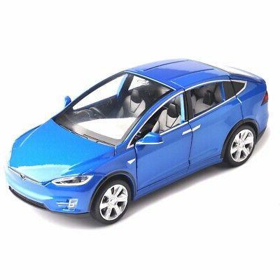 Diecast 1:32 Tesla Model Open door with Light &Sound Kids Gift
