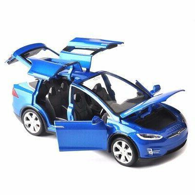 Diecast 1:32 Scale X90 Tesla Toy Open &Sound