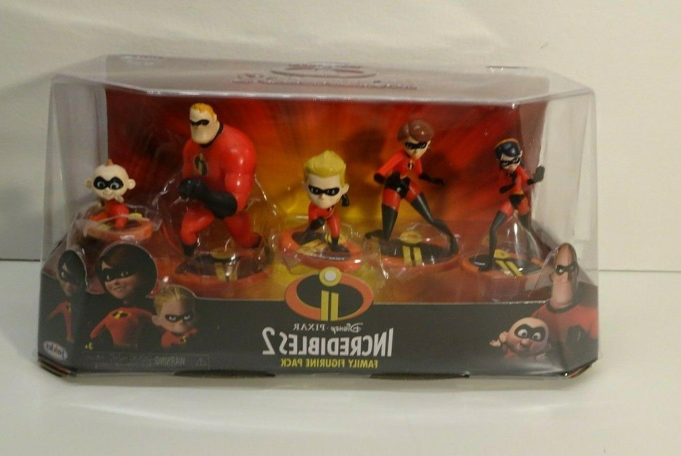 Diney Pixar Incredibles 2 Family Figurine Pack Play Set