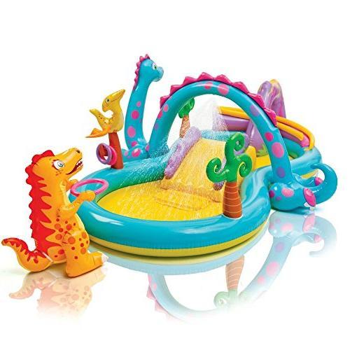 dinoland inflatable play center