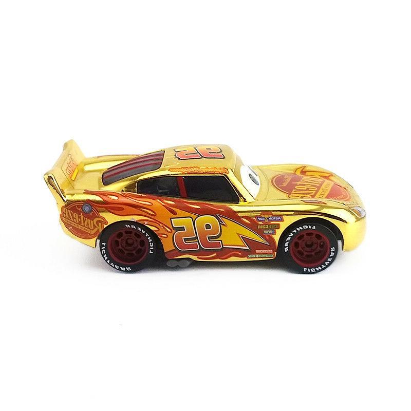 Mattel Disney Pixar Cars 3 Gold Rust Eze Lightning