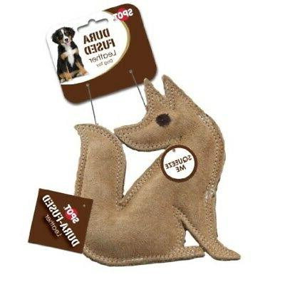 dura fused leather dog toy