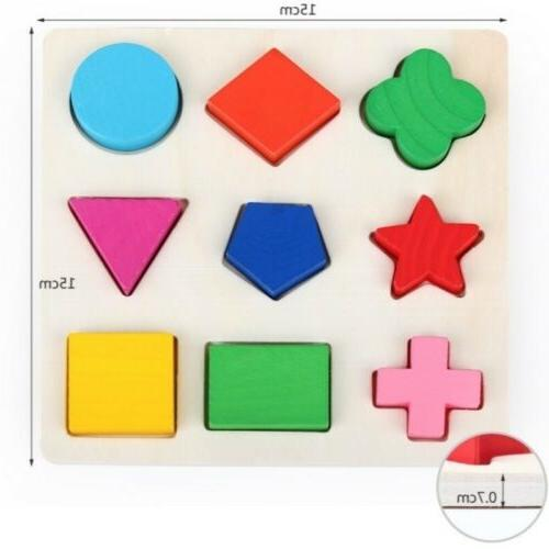 Educational Puzzle Geometry Wood Baby Early Learning