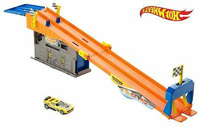 Hot Wheels Fold & Go Series Rooftop Race Garage Track System