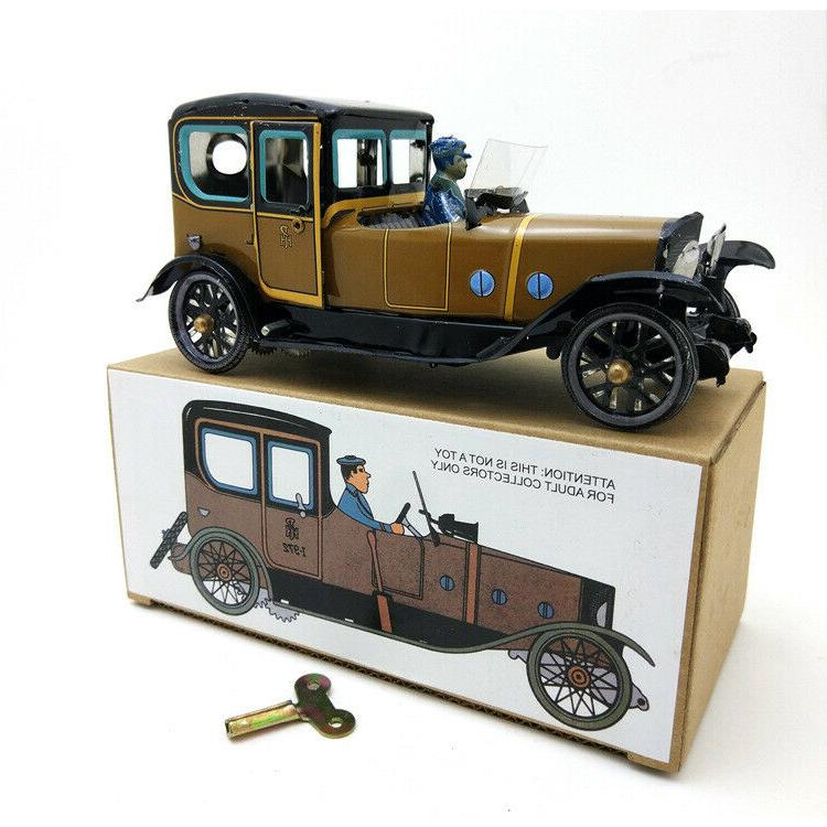 Hand-Made Vintage Car Wind-up Tin Decoration Adult Collection