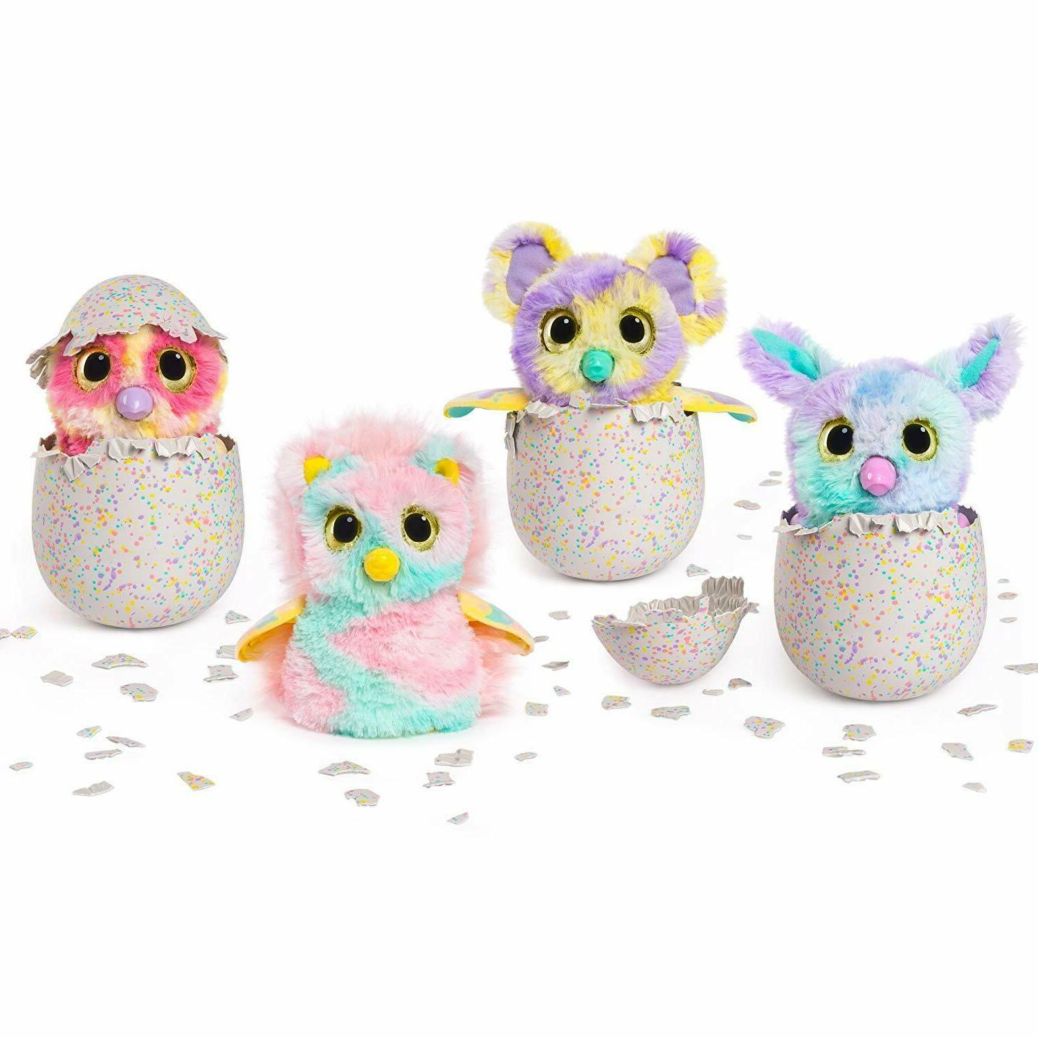 Hatchimals Mystery Egg Fluffy Color Fur Interactive Expandable Wings