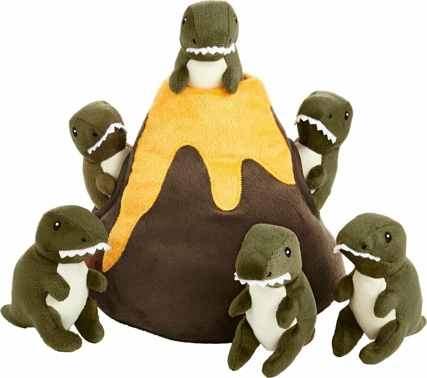 hide and seek plush volcano puzzle dog