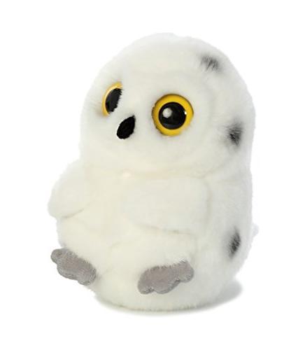 5 Inch Hoot Snowy Owl Rolly Pet Plush Stuffed Animal by Auro