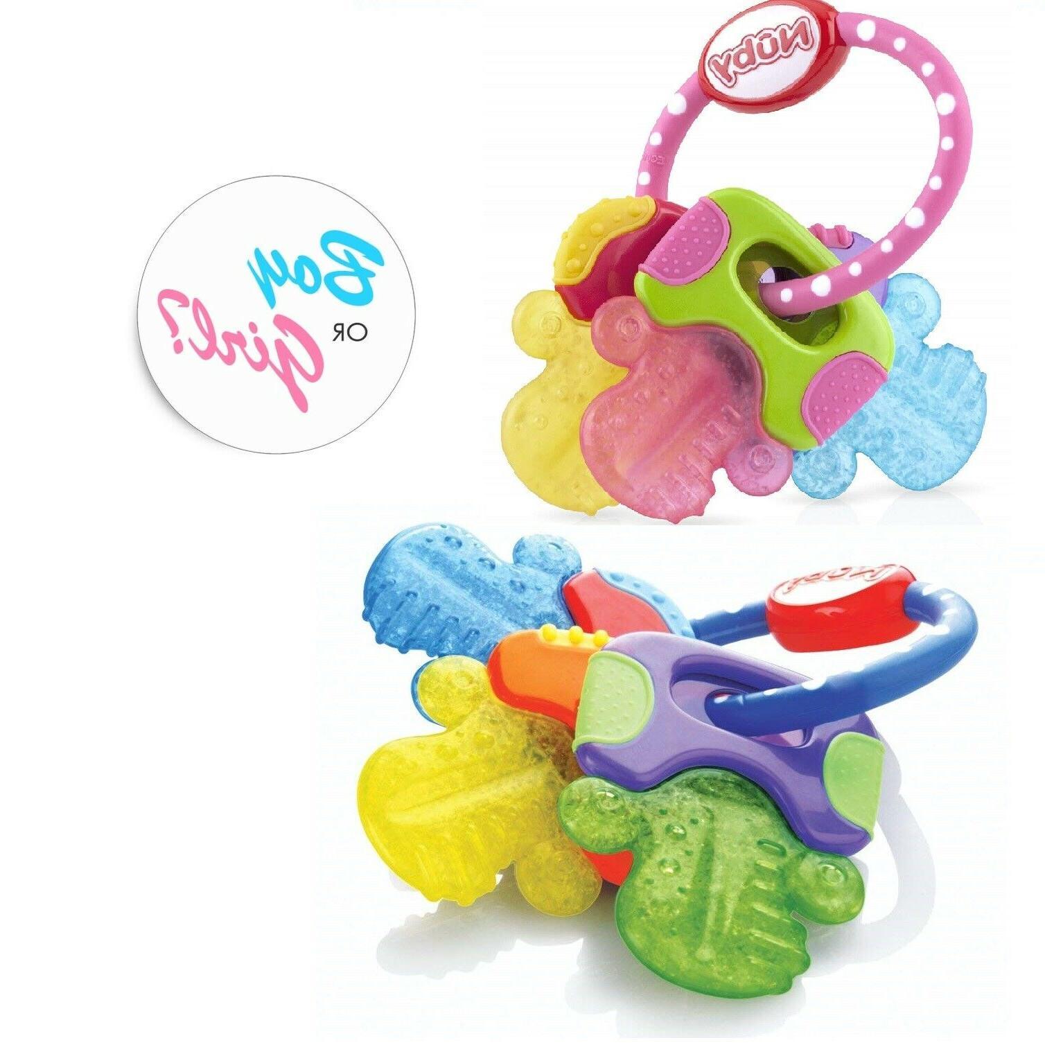 Nuby Ice Keys Baby Soft Teething Soothing