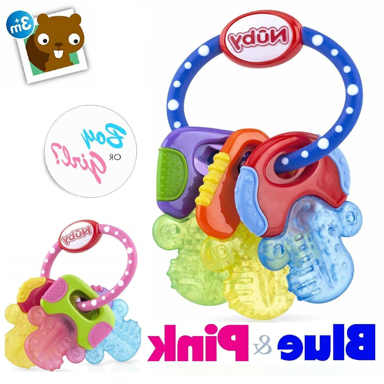 ice gel teether keys baby toy soft