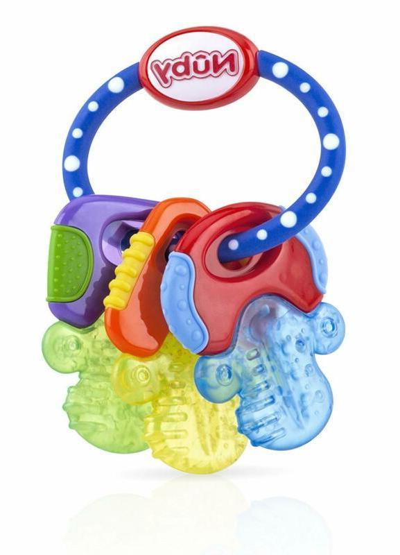 Nuby Ice Gel Teether Keys Baby Toy Soft Teething Soothing Bi