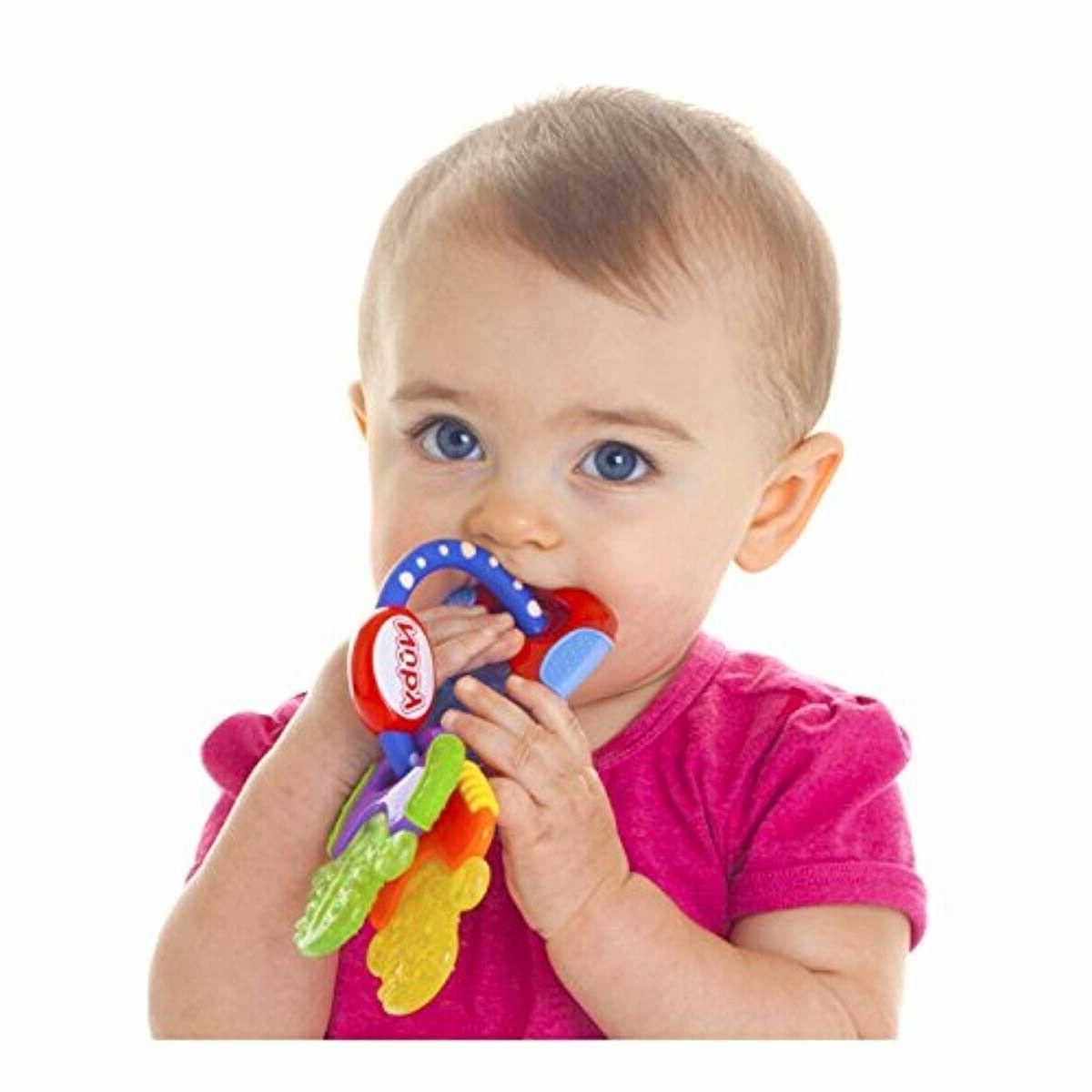 Nuby Keys Gentle Baby Toddler Toy Colorful Teething