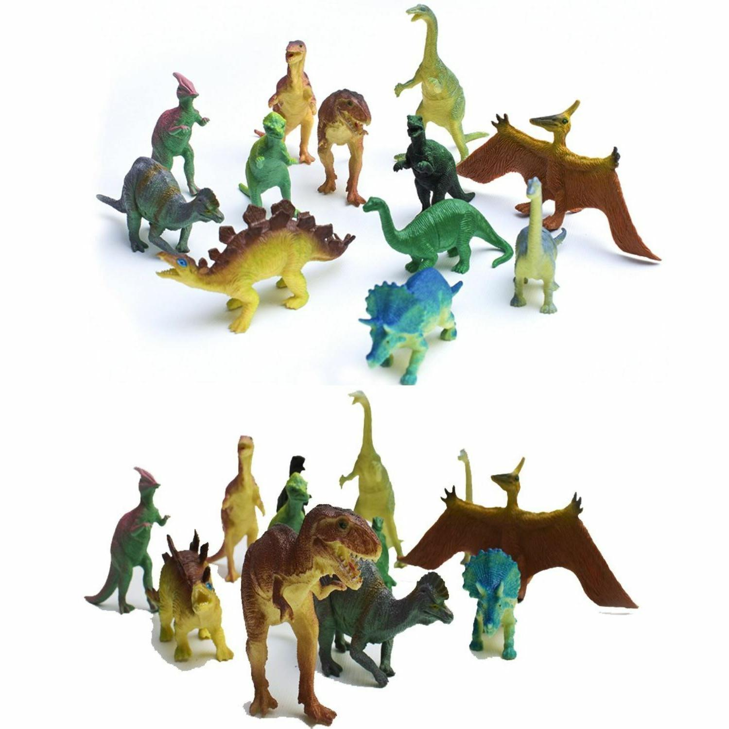 Jumbo Realistic Dinosaur Toys Assorted Pack of 12 Lot Jurass