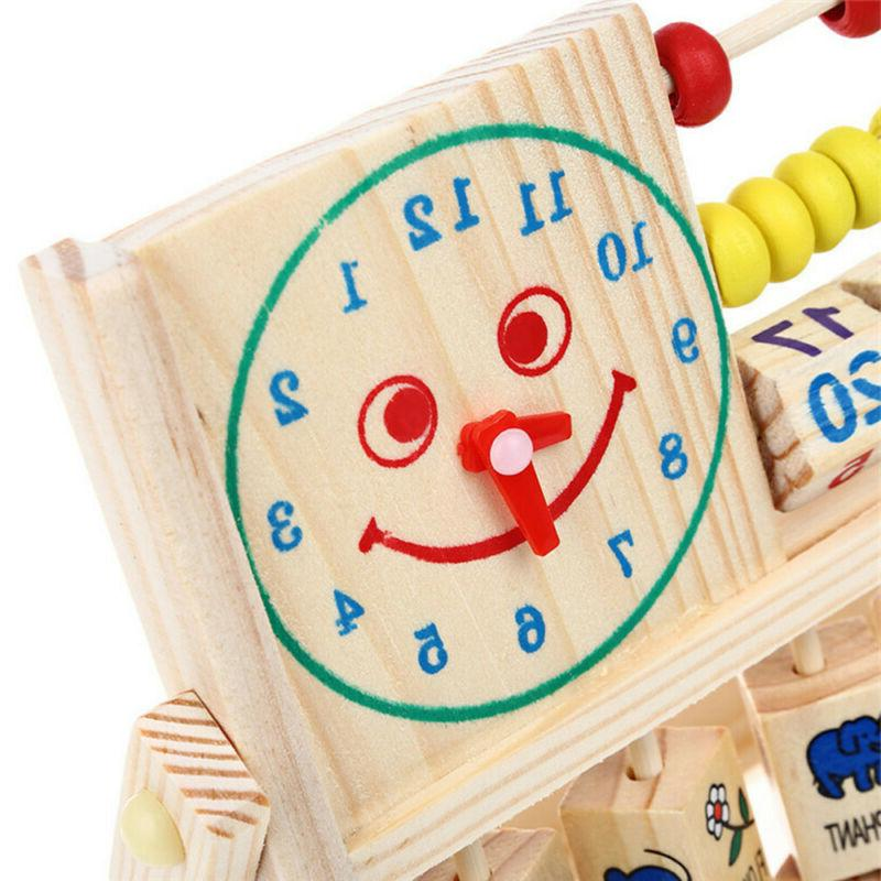 Wooden Learning Early Educational Development Toys Kids Boy