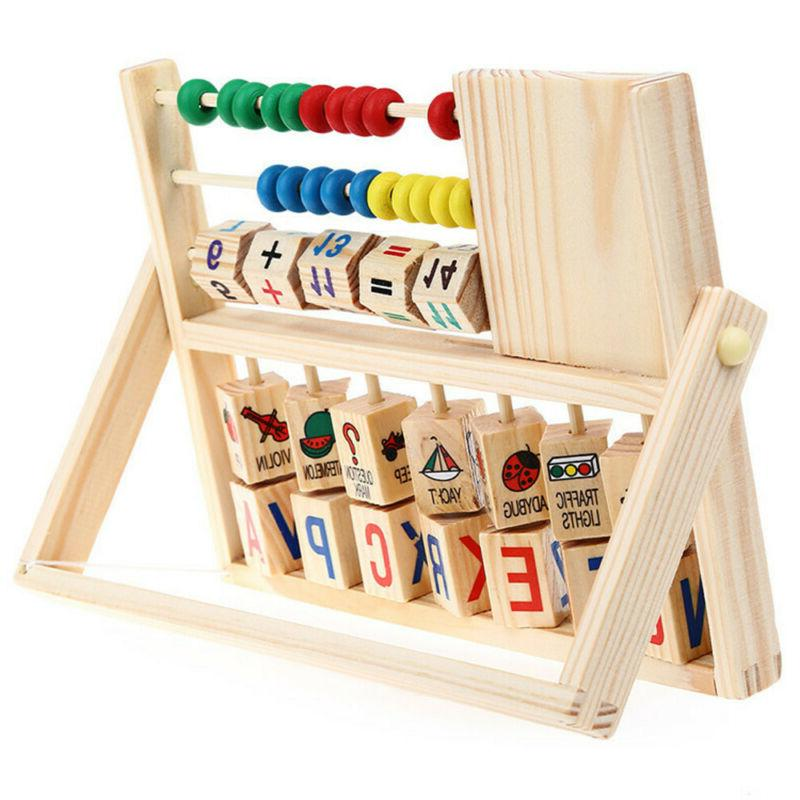 Wooden Learning Early Educational Toys Kids Boy Girl