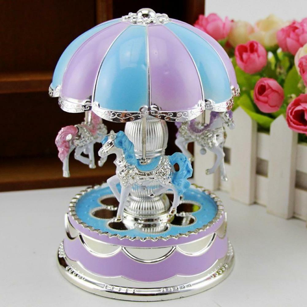 Kids Baby LED Carousel Box Toys Musical Xmas Gifts