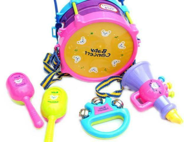 Kids Baby Roll Drum Shakers Percussion Band Kit Toys -