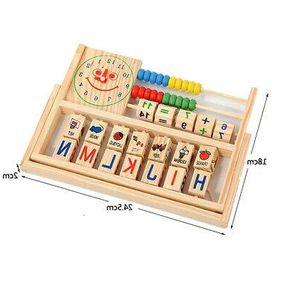 Kids Baby Learning Abacus Wooden