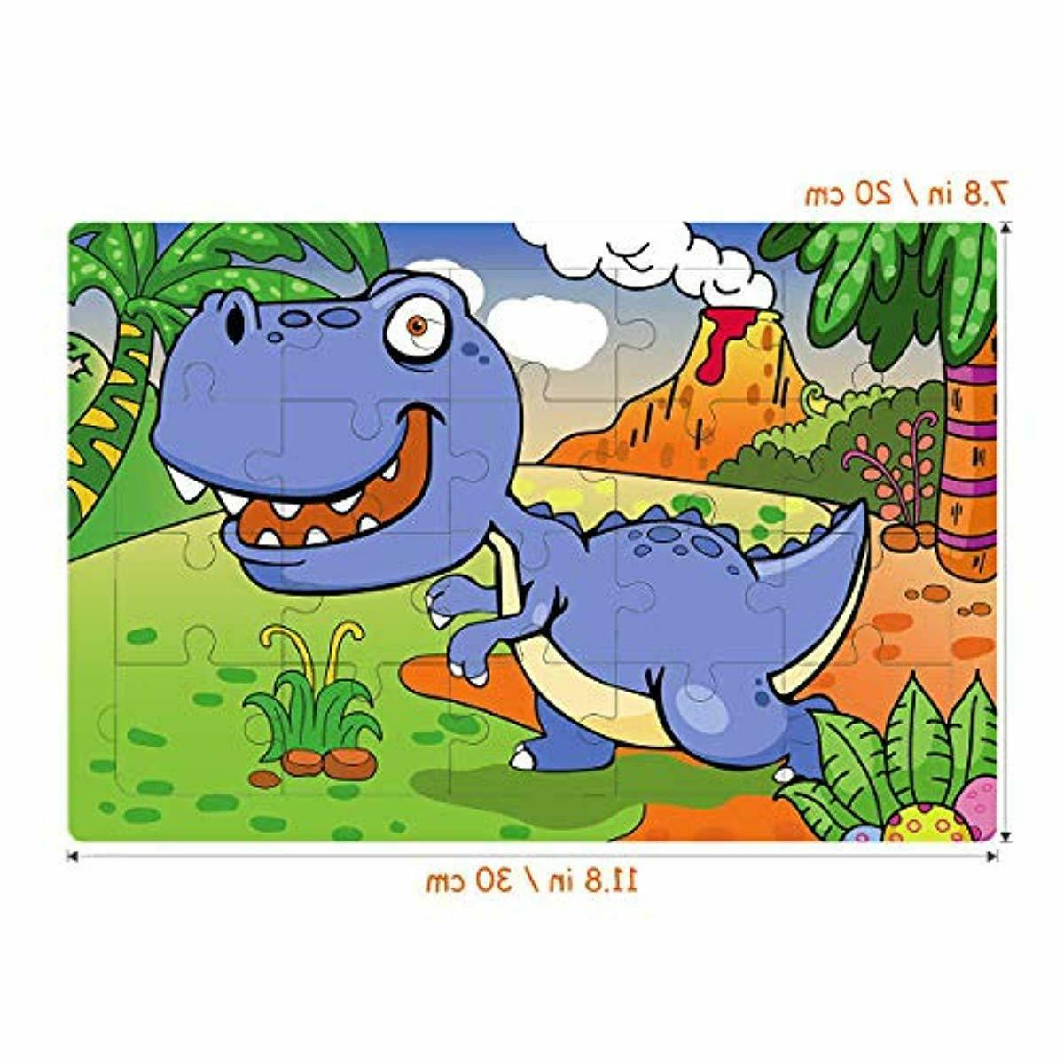 Kids Puzzles Toys Educational Puzzles Set 6-In-1-Box