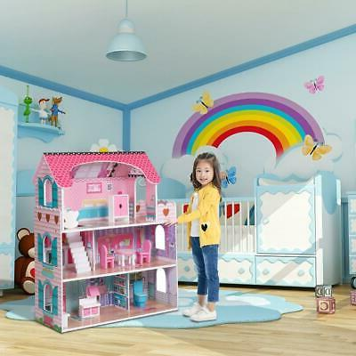 Dollhouse with Furniture Cottage Doll House Dreamdoll House