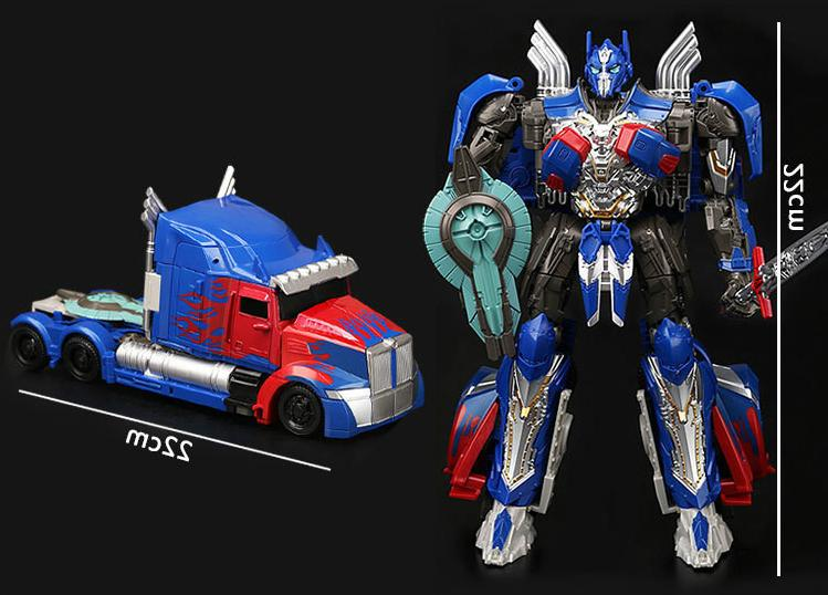 LARGE TRANSFORMERS 5 THE LAST KNIGHT OPTIMUS PRIME ACTION FI
