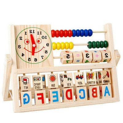 learning developmental versatile flap abacus wooden toys